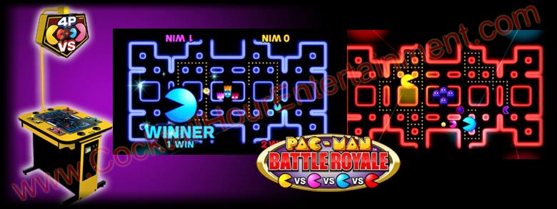 pacman battle royale 4-player arcade game