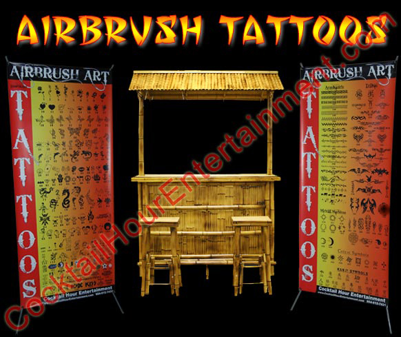1 Airbrush Artist, 10+ Body Paint Colors, 2 Professional Banners (300