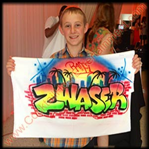 airbrush graffiti towel