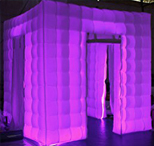 LED color changing Photo Booth Enclosure